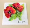 032_4 Tile - Flower - Poppies 6'' x 6''