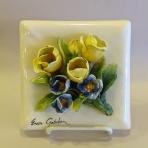 Yellow Tulips, blue flowers IMG_0569